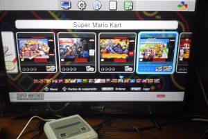 Menu Super Nintendo SNES